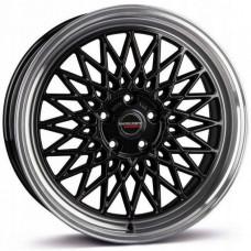 Borbet B black rim polished R18 W8 PCD5x112 ET35 DIA66.5