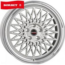 Borbet B silver rim polished R17 W8 PCD5x120 ET35 DIA72.6