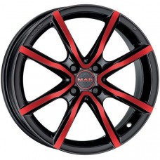 MAK 5,5x15 MILANO4 ET42 4X100 60,1 BLACK AND RED