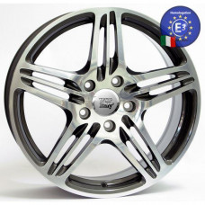 WSP Italy 10,0x18 PHILADELPHIA W1050 5X130 50 71,6 ANTHRACITE POLISHED
